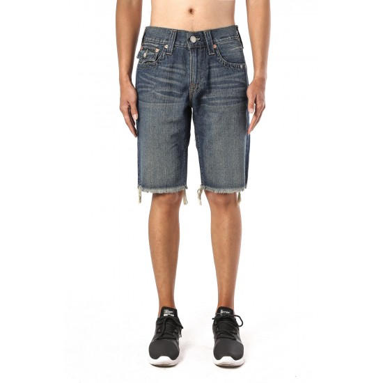True Religion Mens Ricky Straight Jean Short