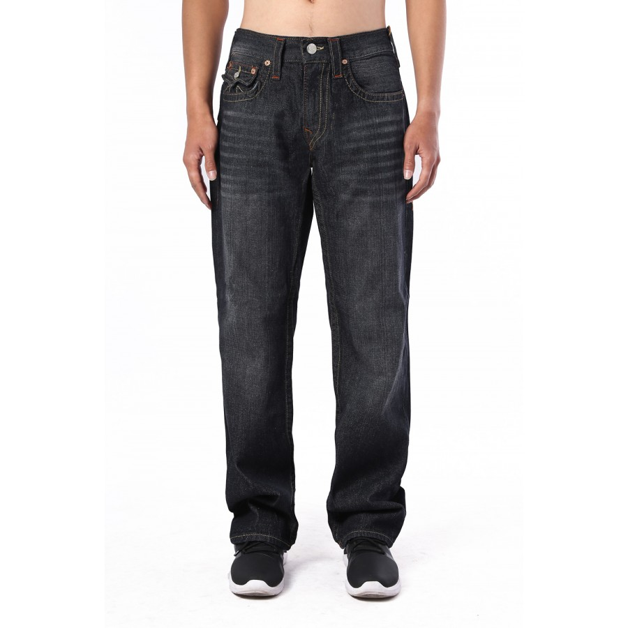 f96adbc7e Cheap Mens True Religion Ricky Straight Black Jean
