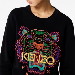 Kenzo Womens Holiday Capsule Collection Tiger sweater black