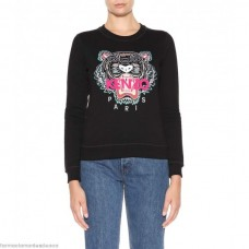 Kenzo Womens Tiger Logo cotton sweatshirt